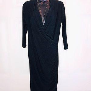 Slinky Black wrap style dress